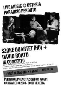 SZOKE QUARTET & DAVID BOATO | Ungheria e Italia