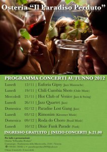 Programma concerti autunno 2012